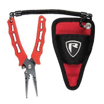Foxrage Belt Pliers rood - zwart - nickel tang & schaar
