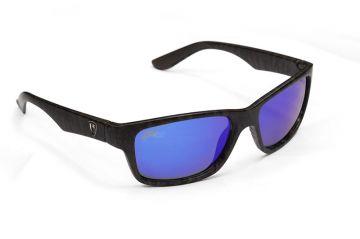 Foxrage Camo Frame Grey Lens Mirror Blue grijs - blauw viszonnenbril