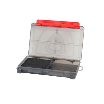 Foxrage Compact Storage Box GRIJS - ROOD roofvis visdoos Medium