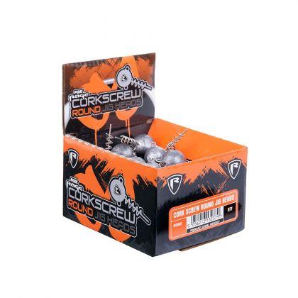 Foxrage Corkscrew Round Jig heads per stuk zilver roofvis vislood 30g