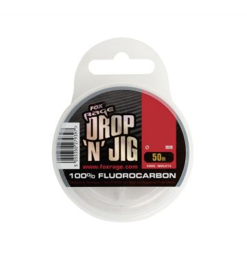 Foxrage Drop & Jig Fluorocarbon clear roofvis visdraad 0.27mm 50m 5.15kg