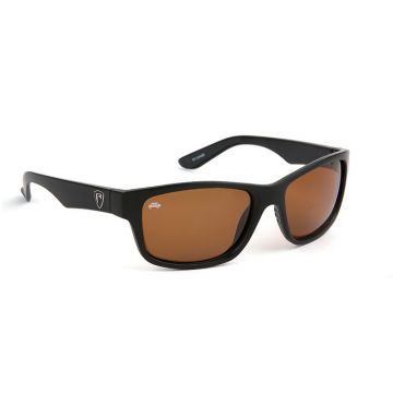 Foxrage Eyewear Matt Black Brown Lens zwart - bruin viszonnenbril