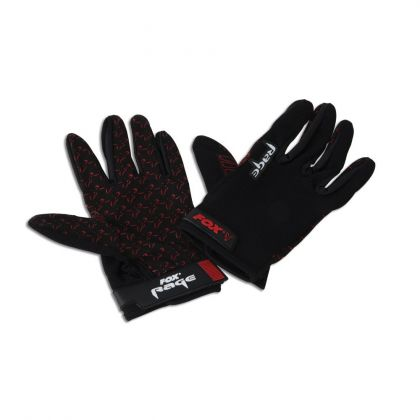 Foxrage Rage Gloves noir - rouge  Large