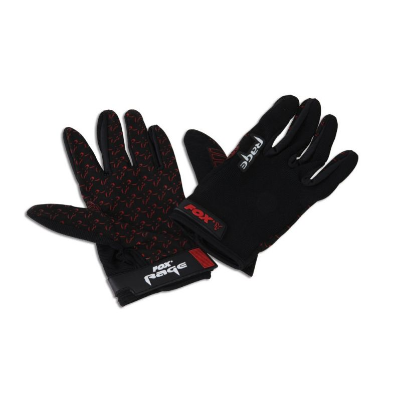 Foxrage Rage Gloves zwart - rood handschoen Large