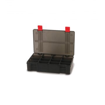 Foxrage Stack N Store Lure Box zwart - rood roofvis visdoos 16 Compart Deep Large