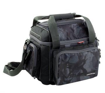 Foxrage Voyager Camo Carryall zwart - grijs - wit roofvis roofvistas Medium