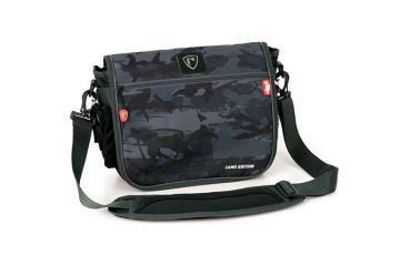 Foxrage Voyager Camo Messenger Bag zwart - grijs - wit roofvis roofvistas