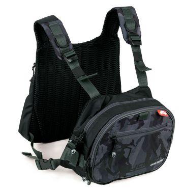 Foxrage Voyager Camo Tackle Vest zwart - grijs - wit roofvis roofvistas