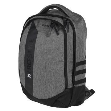 Freestyle Backpack 22 zwart - grijs roofvis roofvistas 50x32x17cm