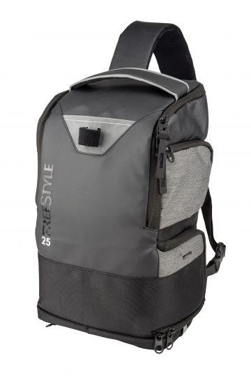 Freestyle Backpack 25 zwart - grijs roofvis roofvistas 23x16x40cm