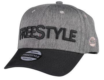 Freestyle Base Cap zwart - grijs pet Uni