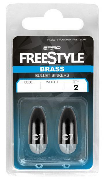 Freestyle Brass Bullet Sinker zwart roofvis vislood 3g