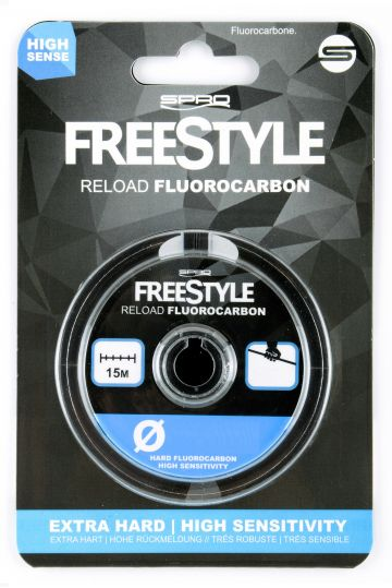 Freestyle Reload Fluorocarbon clear roofvis visdraad 0.31mm 15m