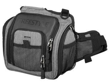 Freestyle Shoulder Bag zwart - grijs roofvis roofvistas 25x11x27cm