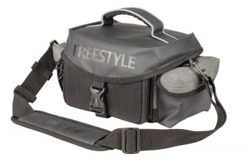 Freestyle Side Bag zwart - grijs roofvis roofvistas 20x17x13cm