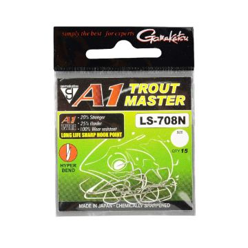 Gamakatsu A1 Troutmaster LS-708 nickel vishaak 10