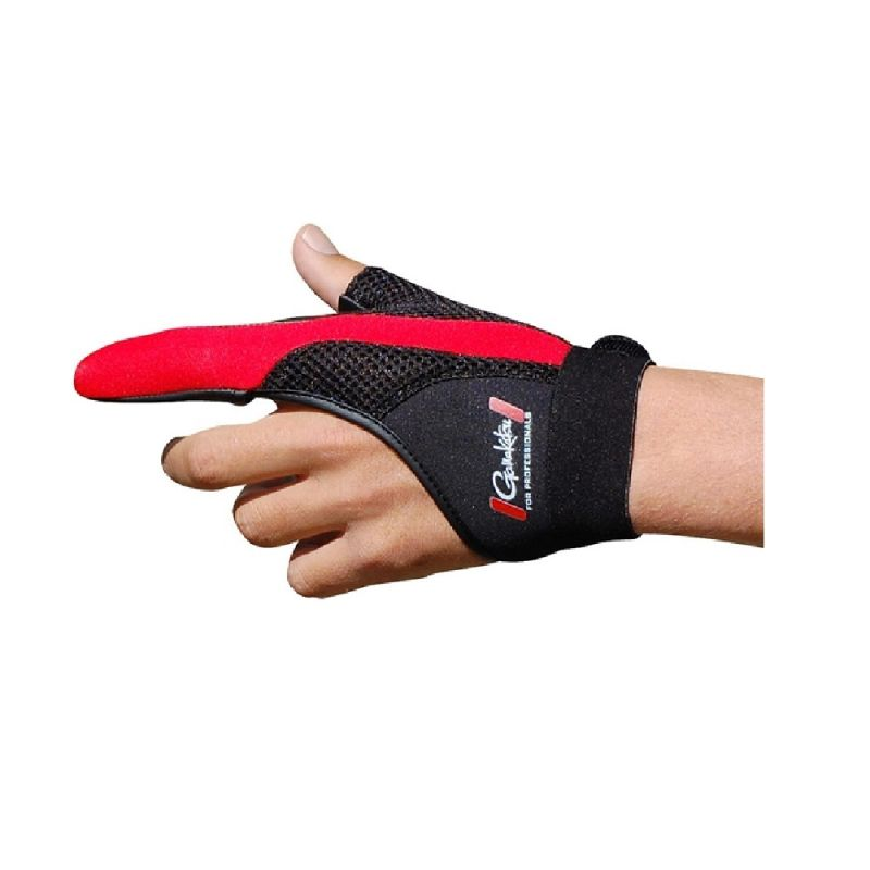 Gamakatsu Casting Protection Glove noir - rouge  Large Left