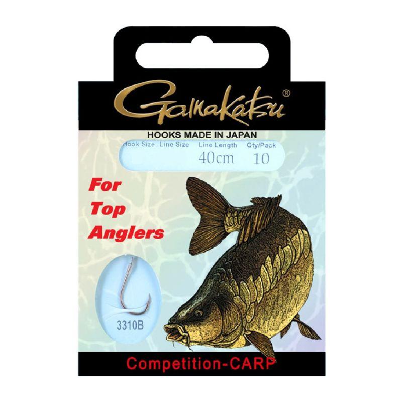 Gamakatsu Competition Carp LS-3310 brons - clear karper karper onderlijn H8 0.18mm 40cm