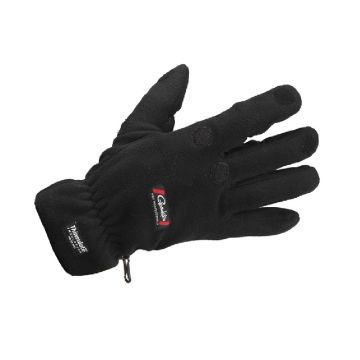 Gamakatsu Fleece Gloves zwart handschoen