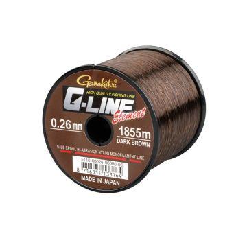 Gamakatsu G-Line Element brown karper visdraad 0.28mm 1490m 5.9kg