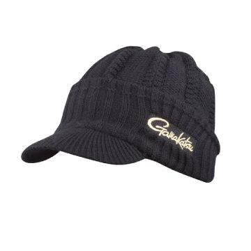 Gamakatsu Knit Cap With Brim zwart pet Uni