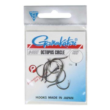 Gamakatsu Octopus Circle zwart vishaak 2/0