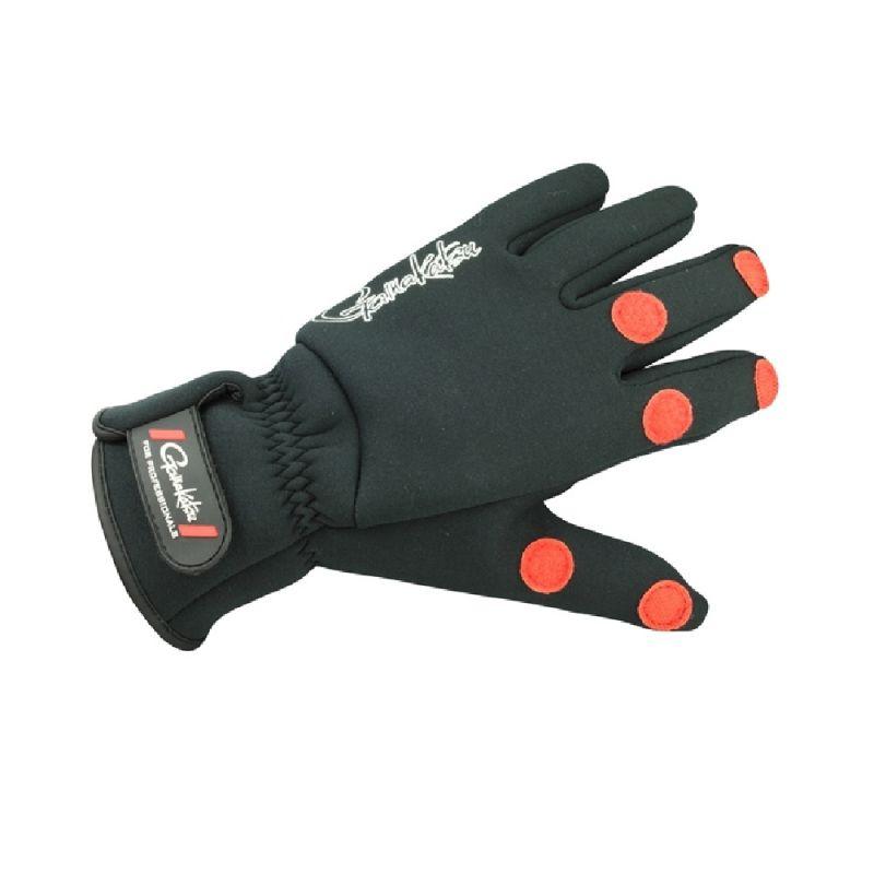 Gamakatsu Power Thermal Glove zwart - rood handschoen Large