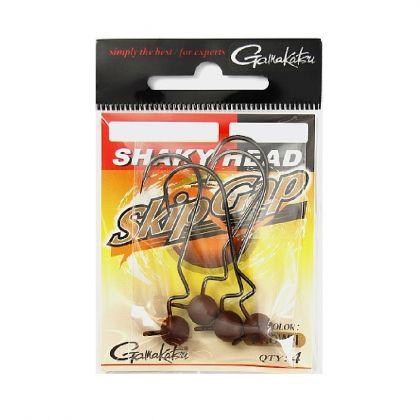 Gamakatsu Skip Gap Shaky Head bruin loodkop 3/0 3.50g
