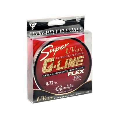 Gamakatsu Super G-Line Flex grijs - clear visdraad 0.30mm 300m 7.96kg