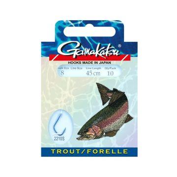 Gamakatsu Trout LS-2210 blauw - clear forel forel onderlijn H8 0.16mm 45cm
