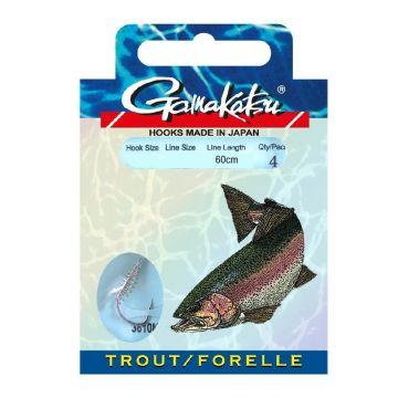 Gamakatsu Trout LS-3610 Spiral nickel - clear forel forel onderlijn H6 0.22mm 60cm