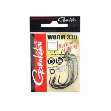 Gamakatsu Worm 330 nickel roofvis vishaak 3/0
