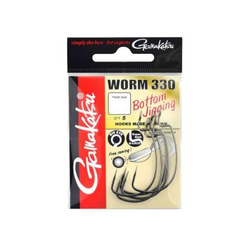 Gamakatsu Worm 330 nickel roofvis vishaak 4/0