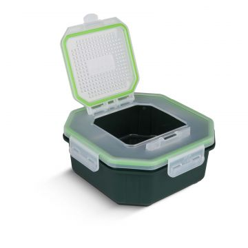 Greys Klip-Lok Flip Top Box groen - wit madendoos 2.4pt