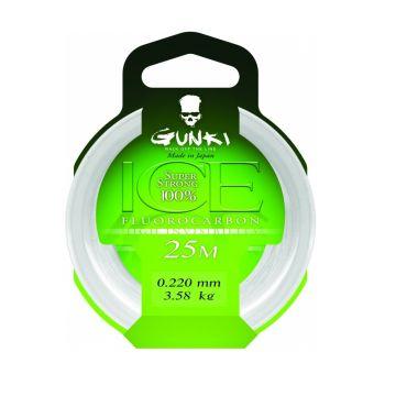 Gunki Fluorocarbon ICE clear roofvis visdraad 0.44mm 25m