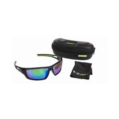 Gunki Iron-T Polariserend zwart viszonnenbril
