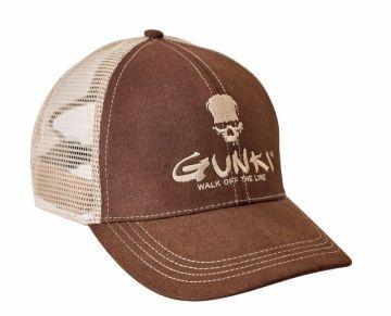Gunki Truckercap bruin - wit pet