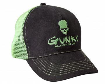 Gunki Truckercap zwart - groen pet