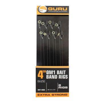 "Guru Bait Bands QM1 Ready Rig clear witvis witvis onderlijn H12 4"" 0.22mm"