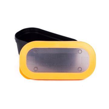 Guru Bait Box Solid Lid zwart - oranje madendoos 1.00pt