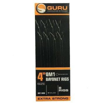 "Guru Bayonets QM1 Ready Rig clear witvis witvis onderlijn H12 4"" 0.22mm"