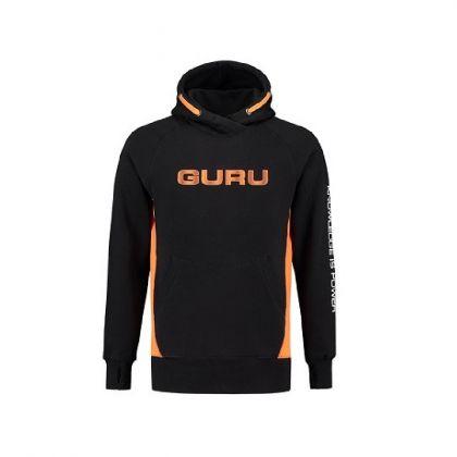 Guru Brush Logo Hoodie zwart - oranje vistrui Small