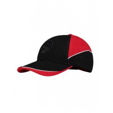 Guru Curveball Cap zwart - rood pet Uni