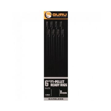 "Guru F1 Pellet Pole Rig clear witvis witvis onderlijn H14 6"" 0.15mm"
