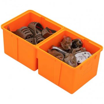 Guru Feeder Box Divided Insert orange