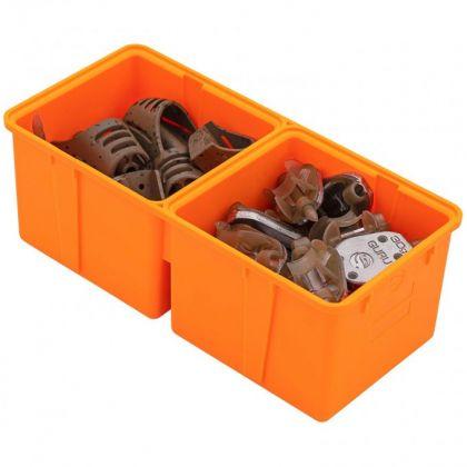 Guru Feeder Box Divided Insert oranje visdoos