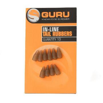 Guru Inline Spare Tube Tail Rubber bruin klein vismateriaal