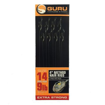 Guru Method Hair Rig clear witvis witvis onderlijn H14 4""