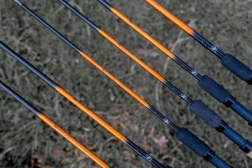 Guru N-Gauge Feeder Rod 11ft zwart - oranje witvis wicklepicker 3m30 1-60g