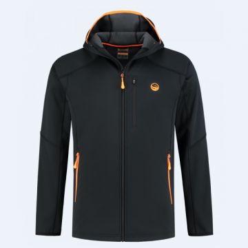Guru Polar Softshell Jacket black - orange visjas X-large